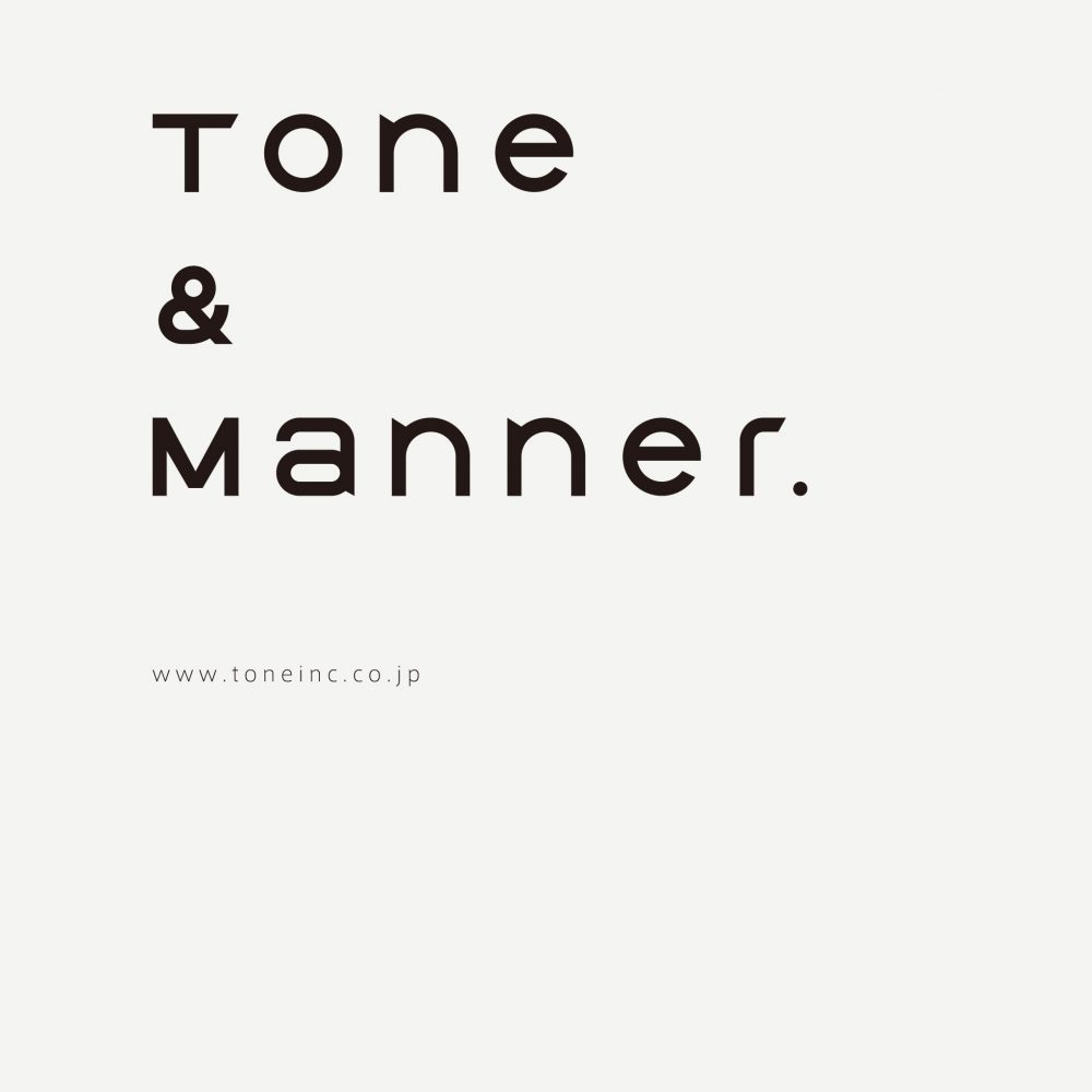 TONE Inc. 株式会社トーン ロゴ タイポグ...